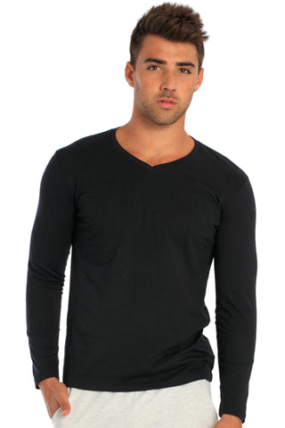 Men's L/S V-Neck T-Shirt - MS-252