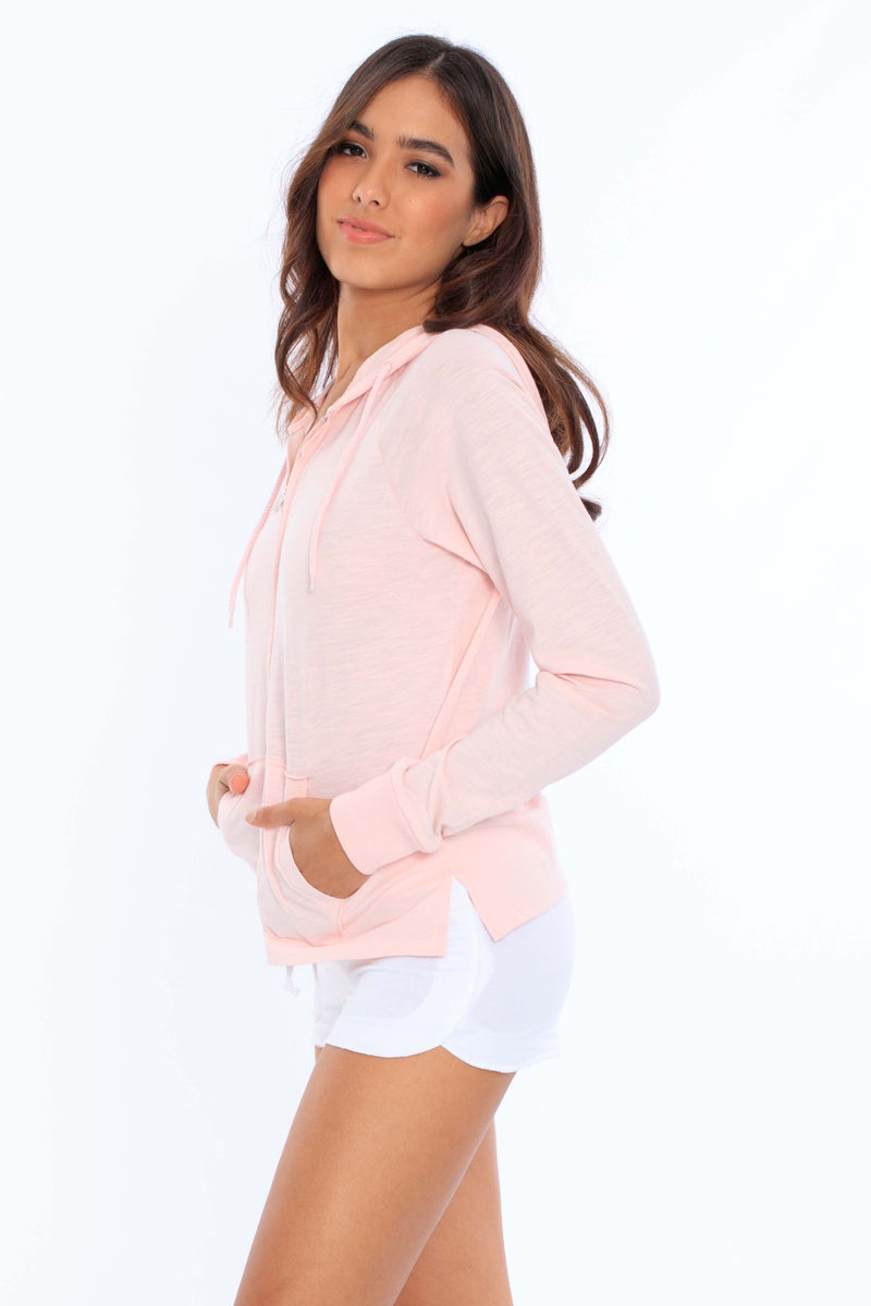 Oversized Zip Up Hoodie - Miami Style 256