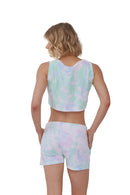 Tie-Dye Crop Tank & Short Set | MS-611