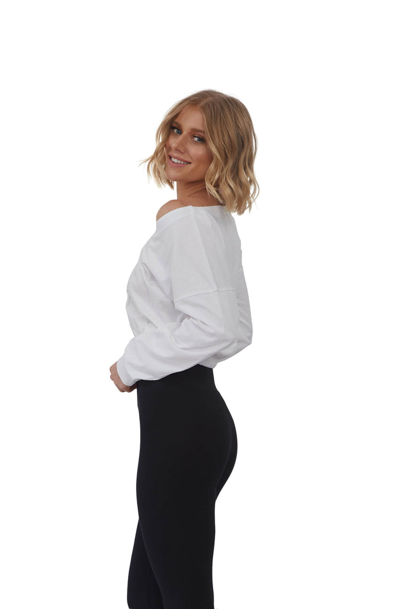 Drop Shoulder Crop Pullover | MS-462