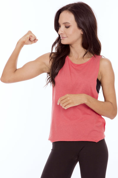 Muscle Tank Top with Twist Side • MS-524