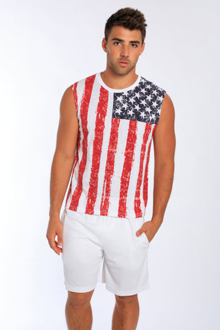 USA Flag Muscle Tank • MS-151DFL