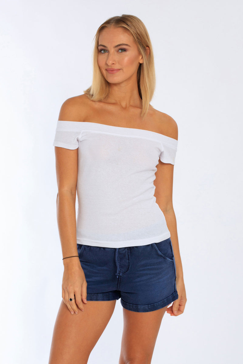 Women's Off-Shoulder Top - Miami Style 342