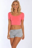 Fitted Cropped Top - MS-418
