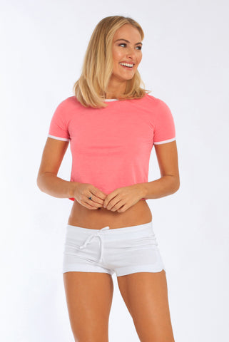 Women's Cropped Ringer T-Shirt - Miami Style 241