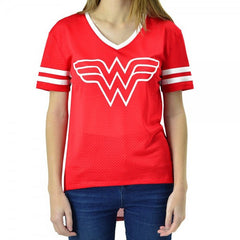 DC Comics Wonder Woman Hi/Lo Juniors Mesh V-Neck