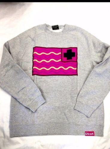 Pink Dolphin Authentic Basic Fleece Sweater Waves  Size XL Crew Neck B10/1