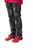 Skinny Stretch Splatter Biker RIPPED Jeans