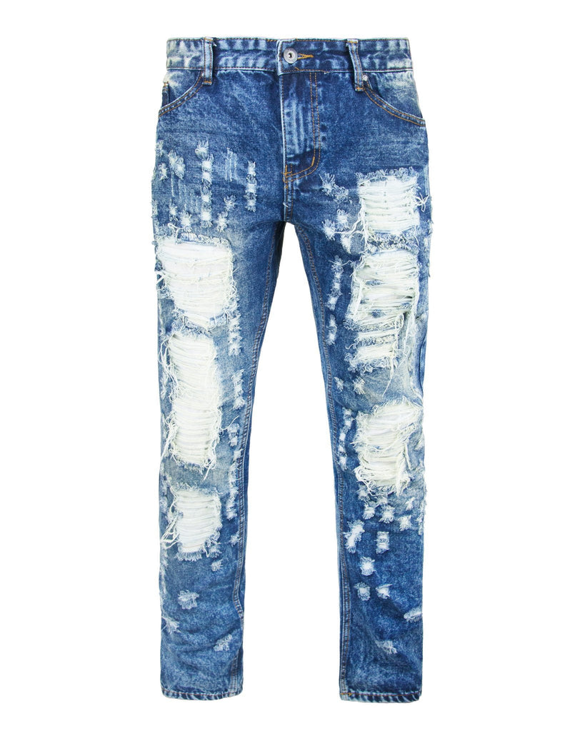 mens ripped Distressed Slim fit Denim