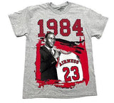 MJ Tee Shirt Draft Day 1984 GRAY Cotton Authentic Classics Mens S-2XL JORDAN
