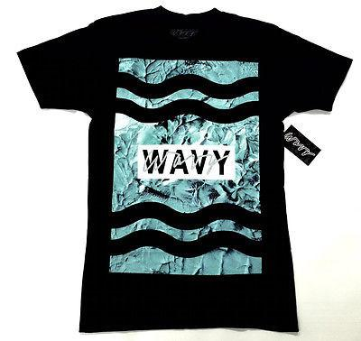 Wavy Clothing Mens Authentic Quality Fashion Cotton Tee Shirts SZ(XL)STYLE 12