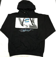 "DFYNT Rose DFYNT ""BLUE LIPS"" l Fashion Urban Black Hoodie FREE SHIPPING  F2"