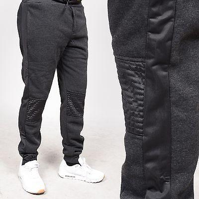 Men's Fleece Detailed Choarcol Biker Jogger