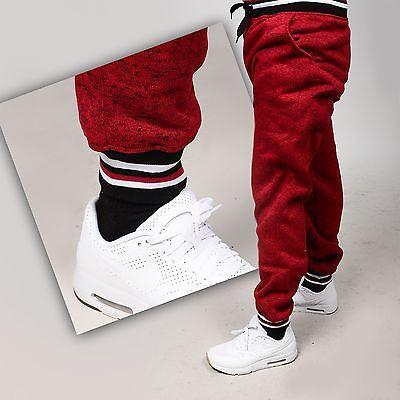 Mens Fashion Legacy MJ COLLOCTION FLEECE PANTS  Stretch Jogger Pants STRAP