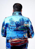 Waxed Authentic Original Pink Dolphin Holiday Boat House Vacation Lake Jacket