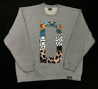 "DFYNT Rose DFYNT ""Tribal D"" l Fashion Urban GRAY Crewneck FREE SHIPPING  F2"