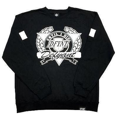 "DFYNT Rose DFYNT ""Until I Die"" l Fashion Urban Black Crewneck FREE SHIPPING  F2"