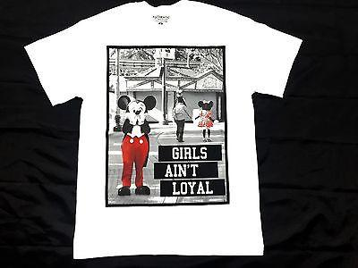 Mickey Mouse Tee Shirt Parody Funny Aint Loyal  Authentic Classics Men S-2XL