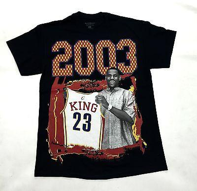 LEBRON Tee Shirt Draft Day 2003 BLACK Cotton Authentic Classics Mens S-2XL