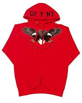 "DFYNT ""RED EAGLE"" Fashion Urban Wording Red Hoodie F6"