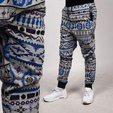 Men's Fleece Aztec Royal Blue/Gray and Black Color Jogger