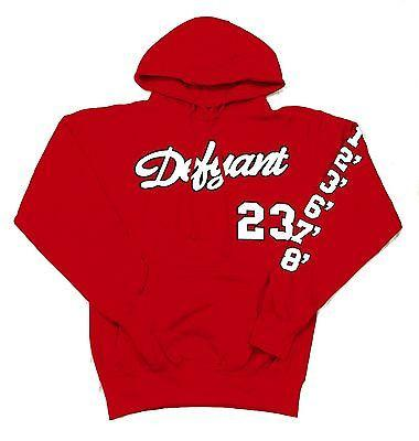 "DFYNT ""RED DFYNT"" Fashion Urban Wording Red Hoodie F6"