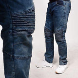 LR Scoop Indigo Wash Biker Denim Max Hip-Hop Slim Pants