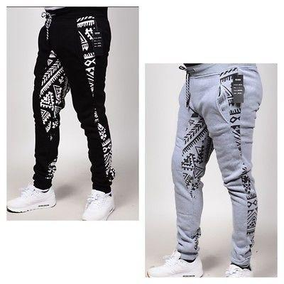Print Fleece Jogger PANTS