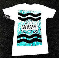 Wavy Clothing Mens Authentic Quality Fashion Cotton Tee Shirt Black wave SZ(S)