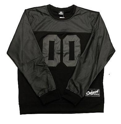 "DFYNT Rose DFYNT ""Double Leather"" l Fashion Urban Blk Crewneck FREE SHIPPING  F2"