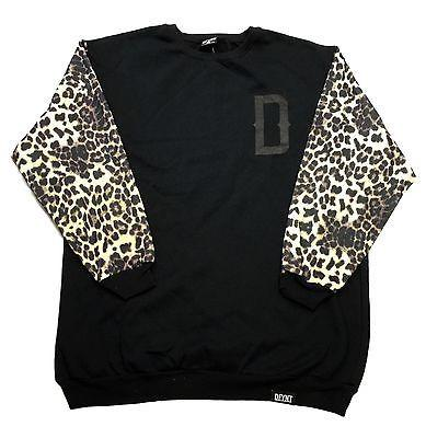 "DFYNT Rose DFYNT ''Cheetah"" Fashion Urban Black Crewneck FREE SHIPPING  F5"