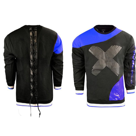 Crew neck Fleece With PU PANNED JORDAN 1S Design