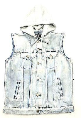 "DFYNT Rose DFYNT ""Icy Wash"" l Fashion Urban Jean Vest FREE SHIPPING   F1"