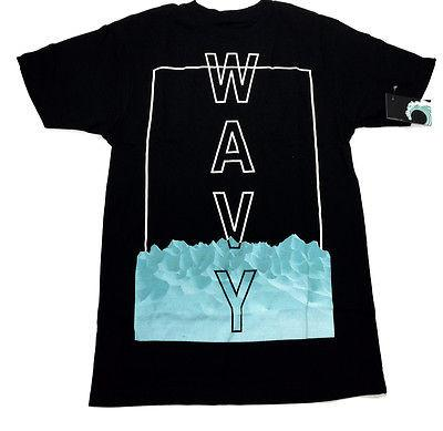 Wavy Clothing Mens Authentic Quality Fashion Cotton Tee Shirt white SZ(M)