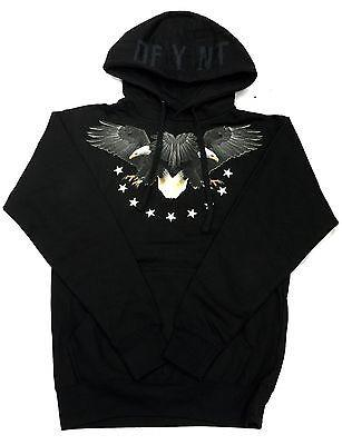 "DFYNT ""BLACK EAGLE"" Fashion Urban Wording Black Hoodie F6"