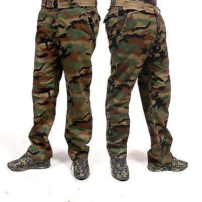 Combat Men's Cotton Military Green Camouflage Pants relax fit