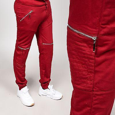 Scoop French Terry W/Silver Zipper Biker Burgandy Jogger