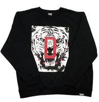 "DFYNT Rose DFYNT ""Tiger Print"" l Fashion Urban Black Crewneck FREE SHIPPING  F2"