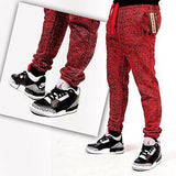 MENS JOGGERS Red CEMENT print