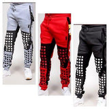 RS7 Squares Knees Print Fleece Jogger