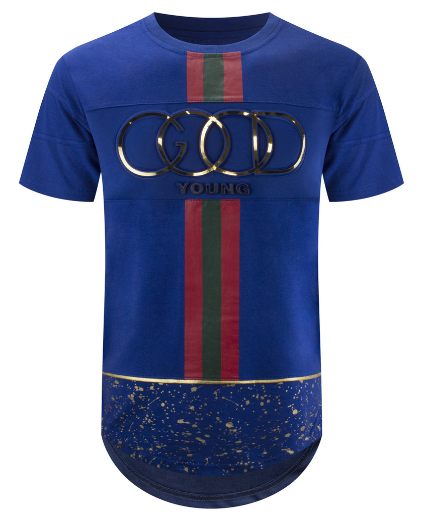 7c88bfb441ac Mens Hipster Hip Hop GOOD YOUNG Embossed Gold Print T-Shirts Graphic –  Apparel Loop