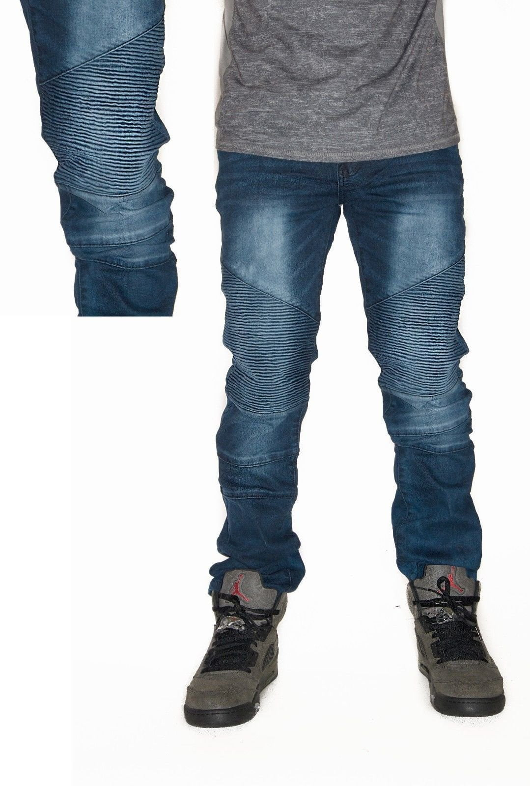 Waimea Summer Collection 433SF Biker Denim - (Blue Steel)
