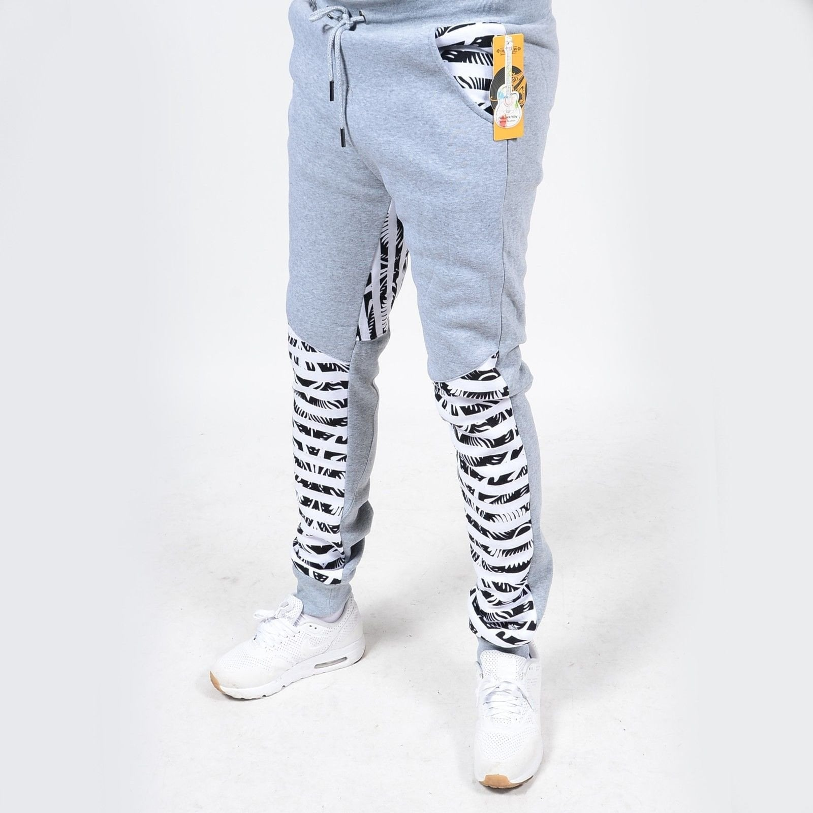 RS7 #15 Zebra Gray Print Fleece Jogger