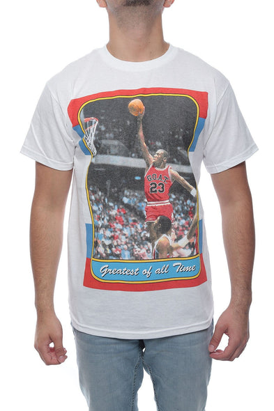 GREATES OF ALL TIME MJ TEE Cotton Authentic Classics Mens S-2XL JORDAN WHITE TEE