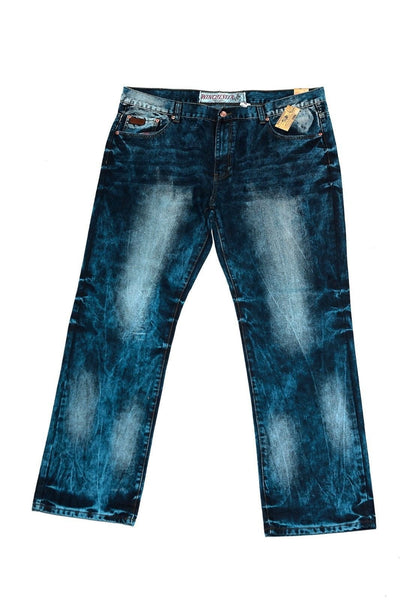 Winchester Indigo Acid Wash Knees Big & Tall Denim Pants