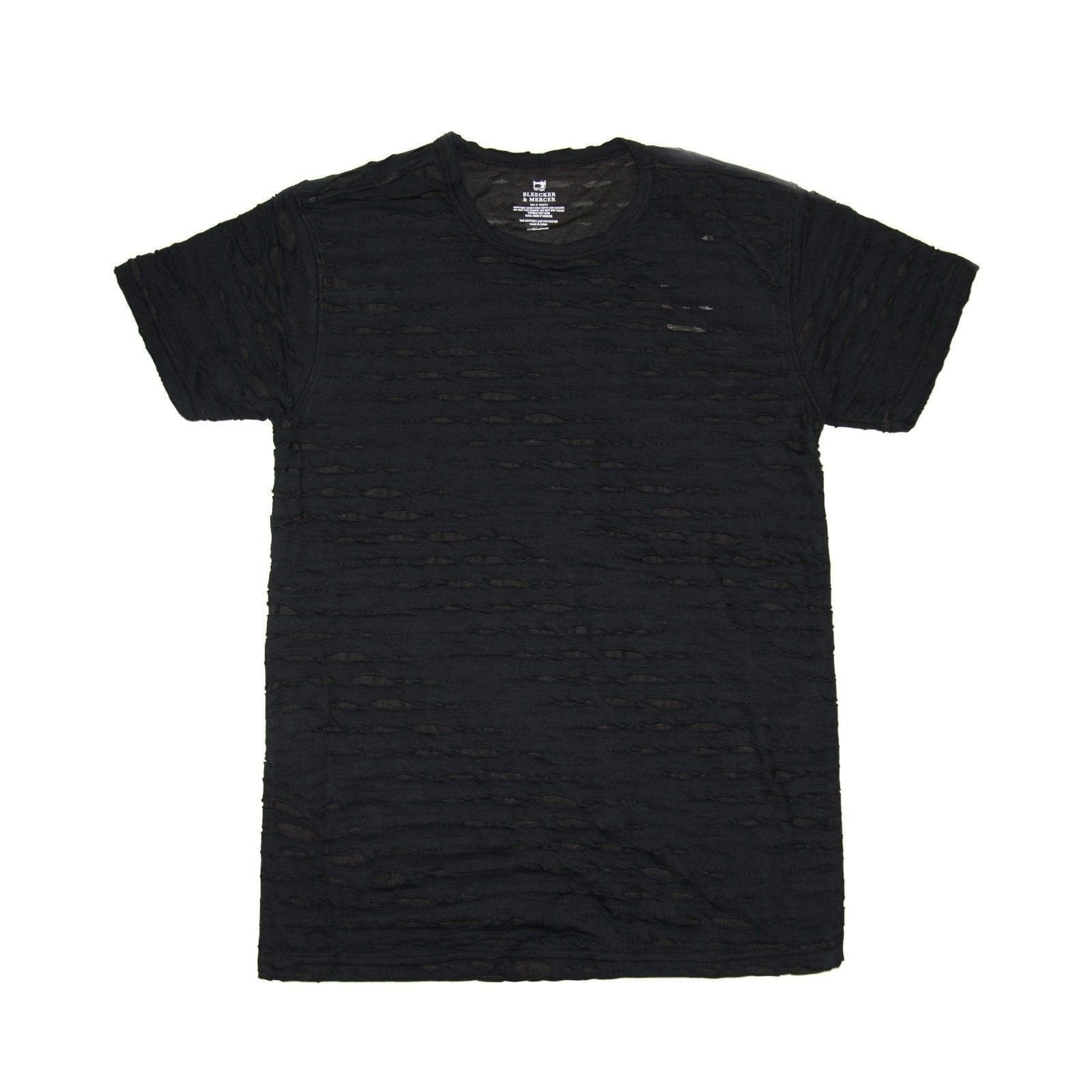 Bleeker & Mercer Distressed Crew Neck T- Shirt - Black