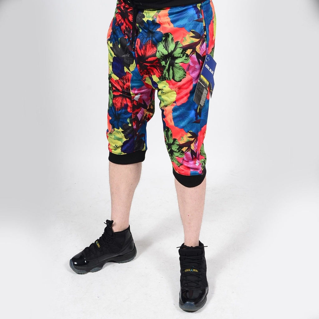 Mens Summer French Terry Apparel Anime EMOJI SURREAL Print JOGGER Shorts