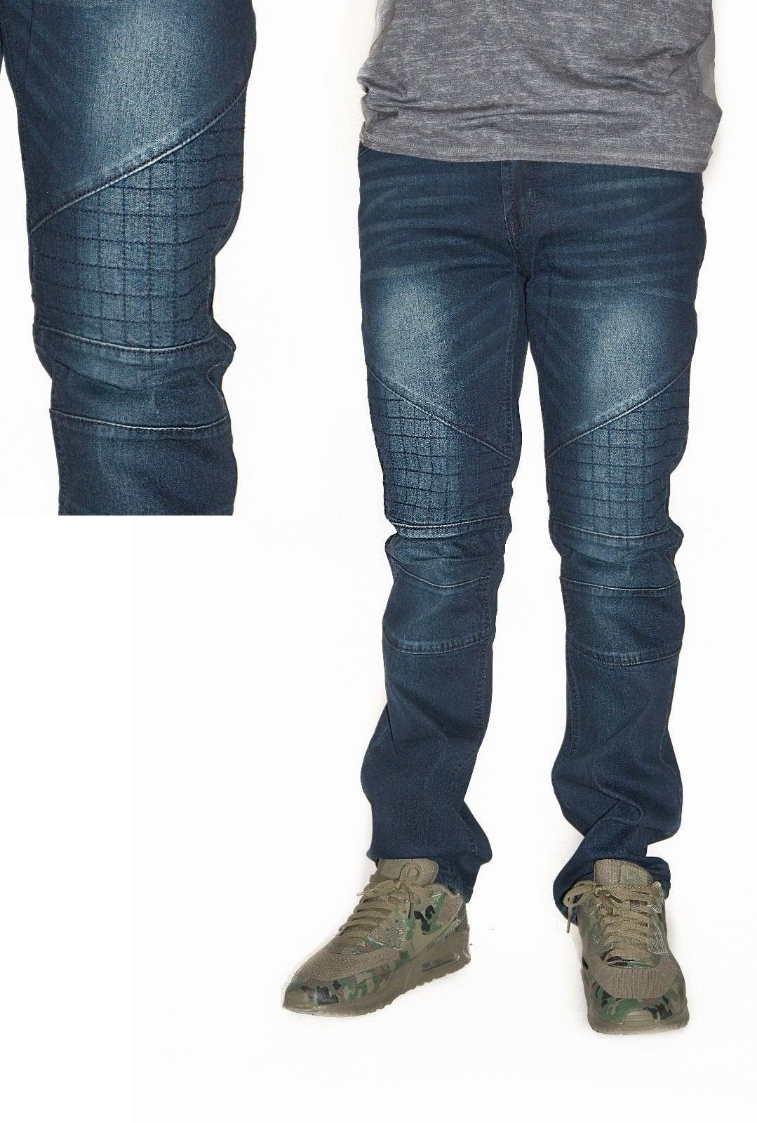 Waimea Summer Collection 430SF Biker Denim - (Blue Black)