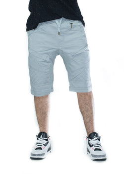 Men's Premium grey Twill Biker Jogger Drawstring Slim Shorts free shipping
