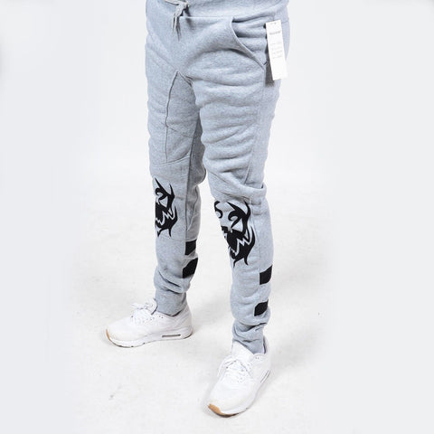 RS7 #07 Gray TOXIC Print Fleece Jogger